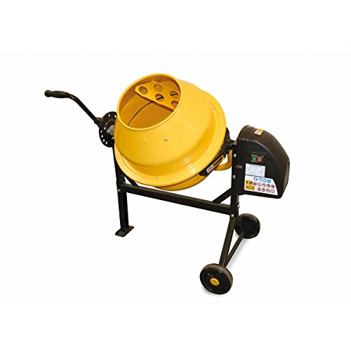 BENTLEY DIY PORTABLE 63L CAPACITY 230V 220W CEMENT CONCRETE MIXER WITH WHEELS