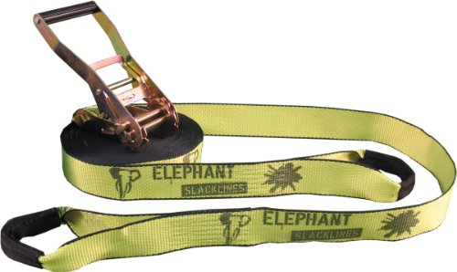Elephant Slacklines Set Rookie Flashline, 15 m lang, 5 cm breit