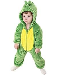 298d9b1467a1e La Vogue Vêtement Combinaison Enfant Bébé Pyjama Grenouillère Hiver Chaud  Forme Animal Déguisement
