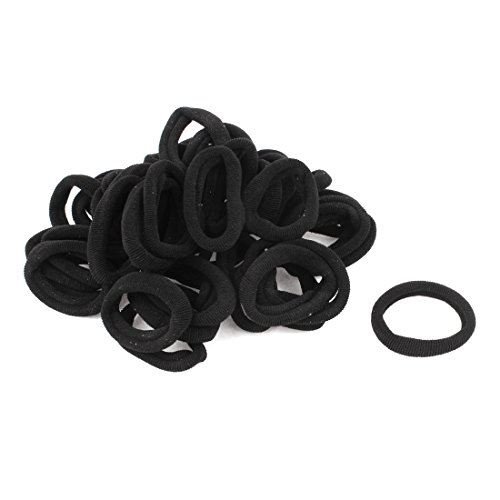 sourcingmapr-femme-bracelet-elastique-anneau-corde-de-cheveux-queue-de-chouchou-noir-pack-12