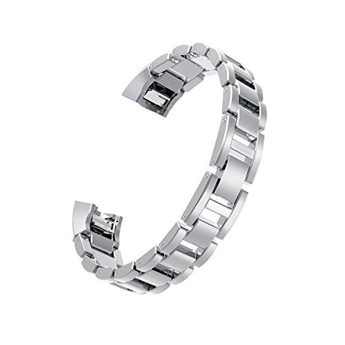 Wearlizer Für Fitbit Alta HR Armband, Smart Watch Metall Ersatzband Band für Fitbit Alta, Silber, Schwarz, Rosa Gold, Gold