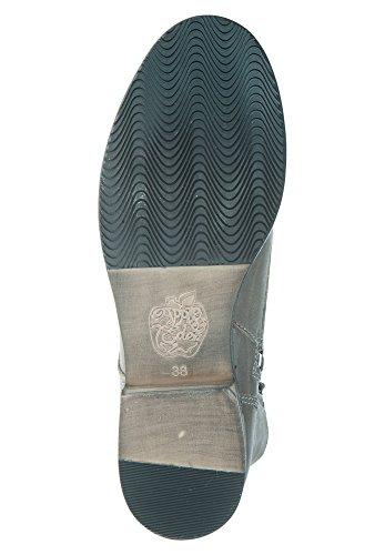 APPLE OF EDEN Damen Lederstiefel BIG APPLE Dark Grey