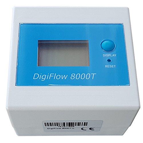 DigiFlow 8000T Elektronische Wasseruhr Filterwechselanzeige Durchflussmesser Wasserzähler (Durchflussmesser Elektronische)