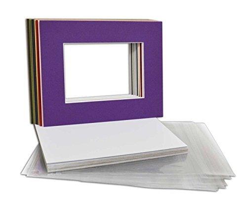 ene Farben 8x 10Bild Matten Matten mit Weiß Core Schrägschnitt für 5x 7Bilder ()
