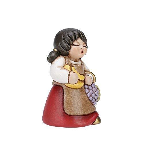 Thun® - donna con frutta - versione rossa - statuine presepe classico - ceramica - i classici