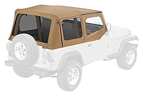Pavement Ends by Bestop 51132-37 Spice Replay Replacement Soft Top Tinted Windows-With upper Door Skins-No frame hardware included- 1988-1995 Jeep Wrangler by Pavement Ends