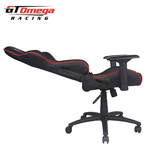 gt omega pro racing office chair black next red leather mejores
