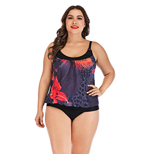 a35b52e44 Bluestermall Tankini Taglie Forti Sexy Costumi Donna Mare Due Pezzi Swimwear