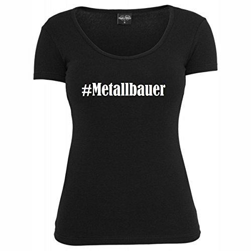 T-Shirt #Metallbauer Hashtag Raute für Damen Herren und Kinder ... in den Farben Schwarz und Weiss Schwarz