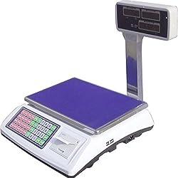 Bilancia elettronica con SCONTRINO con braccio LCD max 50 kg - digitale - display anche lato cliente