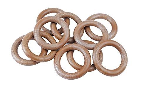 Proops Makramee Ringe Holz Effekt 50mm 5,1cm 10Stück. (s7332) versandkostenfrei innerhalb UK