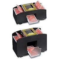 2 x Kartenmischmaschine im Set, elektrische Kartenmischer, 2 Decks und 4 Decks