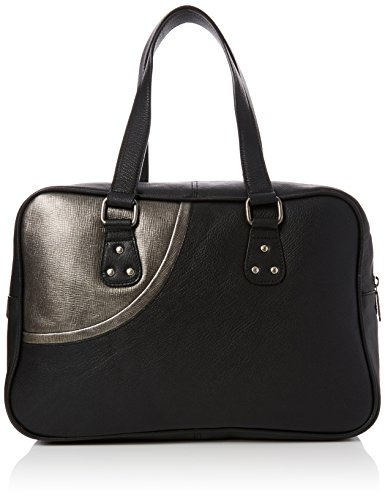 Fly London Solo601fly, Sacs portés main femme, Black (Black/silver), 4x25x39 cm (W x H L)