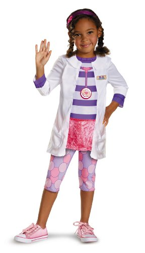 McStuffins Doc Classic Girls Costume, Medium/7-8 by Disguise ()
