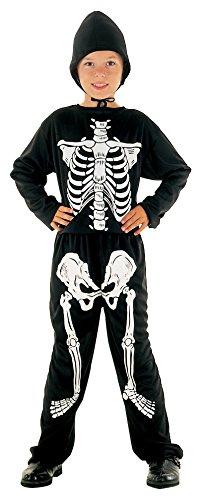 Skelett Fasching Anzug Kostüm Outfit (Kostüme Anzug Schwarz Skelett Kind)