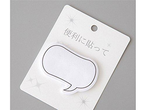 OVVO Simple Note collante simple de modèle de dialogue de rectangle pour la note de message (blanc) OVVO