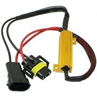 RH11 - free Error LED Load Resistenze resistore Decoder Cablaggio adattatore canceller d'avvertimento per lampade a bulbo LED con H11 Socket