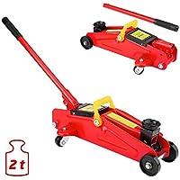 Gato de garaje de elevación rápida para carro hidráulico de 2.5 T - Extensor de silla de montar a 550 mm, rojo