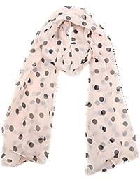 Modisch Damen Lady Tupfen Printing Chiffon lange Schal Schal Wraps 5 Farben