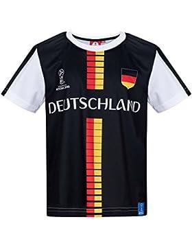 2018 FIFA World Cup Chicos Camiseta Manga Corta - Negro