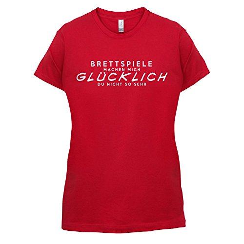Brettspiele machen mich glücklich - Damen T-Shirt - 14 Farben Rot