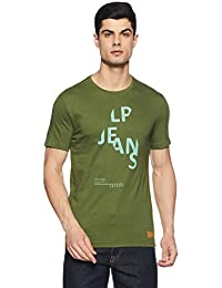 LP Jeans By Louis Philippe Men's Printed Slim Fit Polo