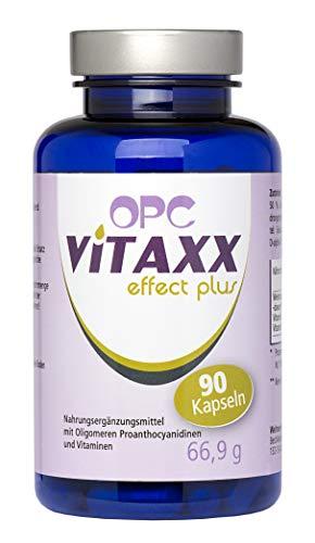 VITAXX | OPC Traubenkernextrakt | 795mg Tagesdosis | 100% Vegan | Ohne unerwünschte Zusätze | 90 Kapseln