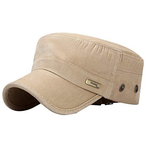 Fenverk Herren Baseball Cap Classic Vintage Cotton Basecap Snapback Caps Outdoor Kappe MüTze Unisex Kappen Hut Frauen MäNner(A Beige)