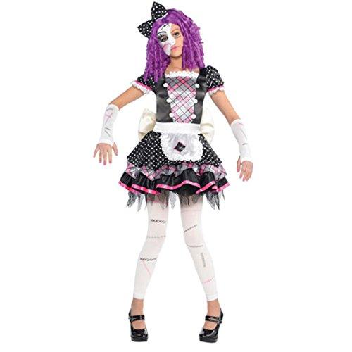 (Amscan Girls Halloween Gothic Doll Kostüm Small (4 - 6 Jahre))