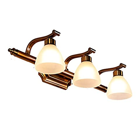 Guo Américan Style Mirror Front Light Led Style européen Retro Bathroom Miroir Cabinet Lights Simple Wall Lamp Make-up Mirror ( taille : M )