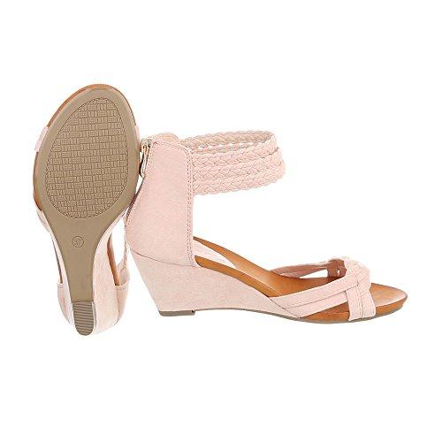 Ital-Design, Sandali donna, beige (Beige), 39