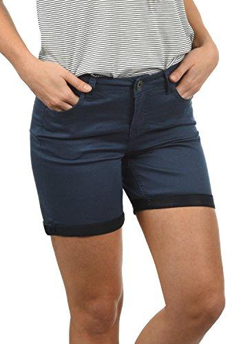Desires Lila Damen Jeans Shorts Kurze Denim Hose Aus Stretch-Material Skinny Fit , Größe:42, Farbe:Insignia Blue (1991)