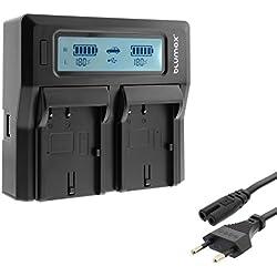 Invero® NP-50 LCD Double Caméra Batterie Chargeur peut charger 2 Batteries simultanément pour Fuji Fujifilm FinePix Series F900EXR F85EXR F850EXR Real 3D W3 XP170 XP160 XF1 X20