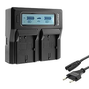Invero® EN-EL19 LCD Double Caméra Batterie Chargeur peut charger 2 Batteries simultanément pour Nikon Coolpix S7000 S6900 S6800 S6700 S6600 S6500 S6400 S5300 S5200 S4400 S4300 S4200