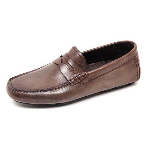 D4424 mocassino uomo taupe vintage BRECOS loafer shoe man tortora scuro