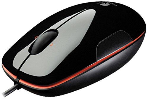 Logitech M150 kabelgebundene Laser-Maus, schwarz-orange