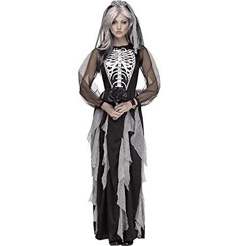 Edelehu Blutiger Kopf Zombie Halloween Cosplay Kostüm Tunika Hooded Robe Kapuzenmantel Cape Medieval Kapuzen-Party-Ausrüstung (Zombie Robe Kostüme)