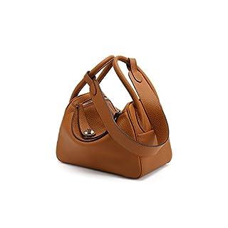 YXLONG Nouveau Sac à Main en Cuir Lindy Bag Litchi Model Doctor Bag Sac à Bandoulière en Cuir,26cmcamel