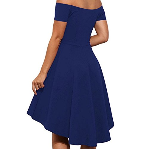 Etosell Femmes Printemps 2017 Sexy Prom Sans Manches Mini Robes S-XL Bleu