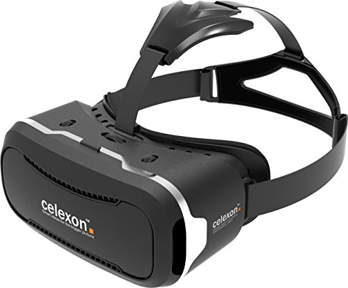 "celexon VR Brille Professional VRG-2 - 3D Virtual Reality Brille VRG-2 Virtual Reality Headset | Kompatibel mit allen Smartphones von 3,5"" bis 5,7"", z.B. Apple iPhone, Samsung, etc."