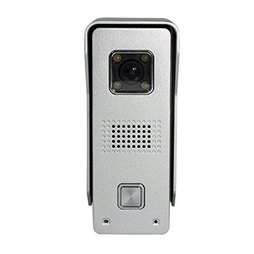 "Amocam Wired Telephone style Video Door Phone Intercom Doorbell Kit IR Night Vision Aluminum alloy Camera Rainproof Rustproof Door Bell Intercom Doorphone 4.3"" Clear LCD 2-Monitor"