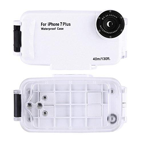 HAWEEL 40m Wasserdichtes Tauchen Gehäuse Foto Video Unter Wasser Abdeckung Fall für iPhone 7 Plus by diebelleu ( Color : Black ) White
