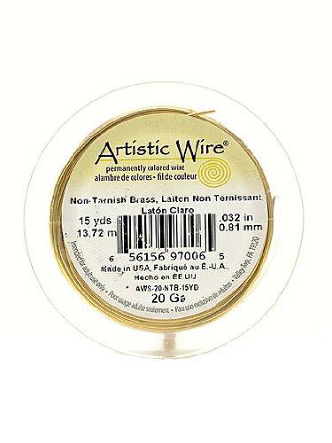 Artistic Wire Spools 15 yd. non-tarnish brass 20 gauge by Artistic Wire (Spool 4 Gauge)