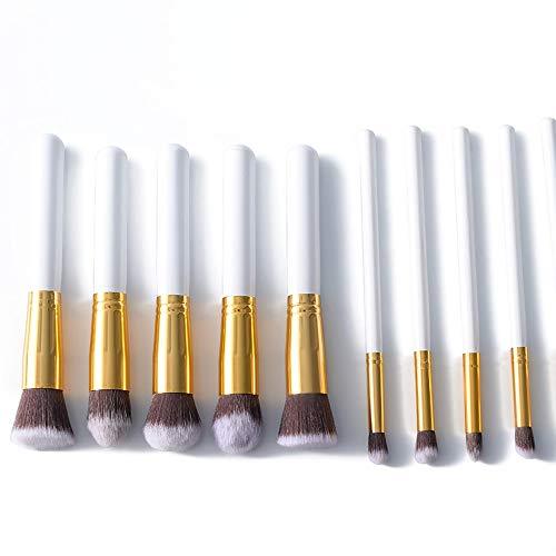 Philip Peacoc 10 STÜCKE Synthetische Bambus Erröten Foundation Lidschatten Eyeliner Bronzer Make-Up Pinsel Sets * / * / * (Color : Gold, Size : Kostenlos) - Kostenlose Bronzer