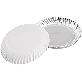 Buy Ezee Silver Coated Paper Plate 10 Inch Pack Of 50 Online At