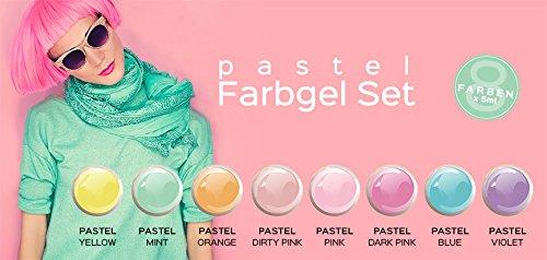 Gel Couleur Pastel Lot de 8-Nail Studio Color Gel UV Set pour la conception des ongles professionnels
