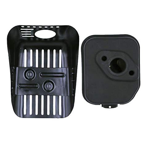 hjgnbiohg 1 Set Motor Schalldämpfer Rasenmäher Schalldämpfer Multi-Funktions-Kunststoff Rasen Maschine Auspuff-Rasenmäher Ersatzteil Ersetzt Honda GXV160