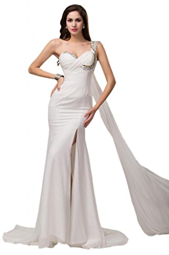Sunvary da donna in simil Chiffon, motivo: pantaloncini da Cocktail Party Homecoming Gowns Pearl Pink