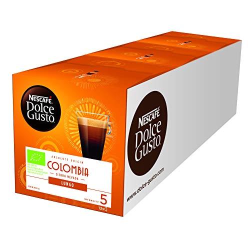 NESCAFÉ Dolce Gusto Colombia Lungo | Hochland Arabica Bohnen | Bio-Kaffee | Feine Crema | Absolut...