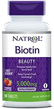 Natrol Biotin Beauty Tablets, Promotes Healthy Hair, Skin & Nails, Helps Support Energy Metabolism, Helps